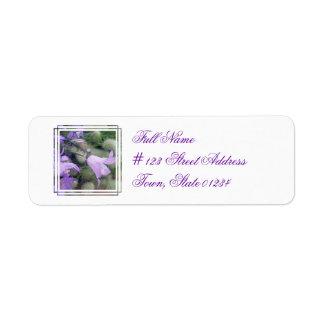 El Campanula florece la etiqueta de correo Etiqueta De Remite