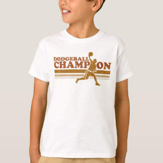 El campeón de Dodgeball del vintage embroma la Playera