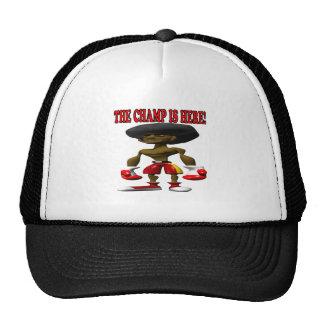 El campeón está aquí 2 gorras de camionero