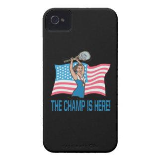 El campeón está aquí Case-Mate iPhone 4 funda