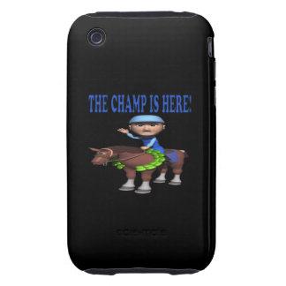 El campeón está aquí tough iPhone 3 funda