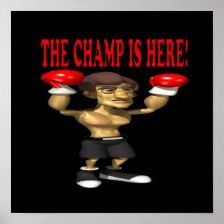 El campeón está aquí poster