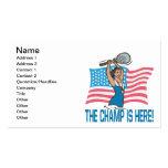 El campeón está aquí plantillas de tarjetas de visita