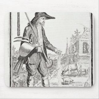 El campesino del pueblo, llevado para sufrir, c.17 tapete de ratón