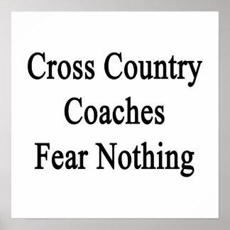 El campo a través entrena miedo nada póster