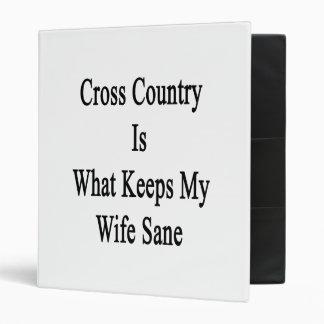 El campo a través es qué mantiene a mi esposa sana