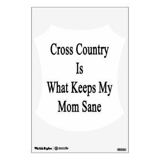 El campo a través es qué mantiene a mi mamá sana