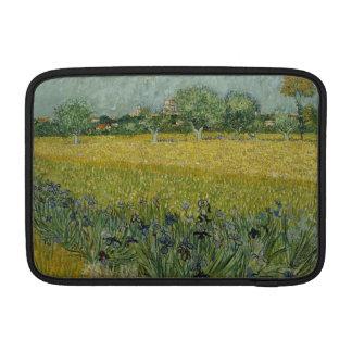 El campo con las flores acerca a Arles de Vincent Fundas MacBook