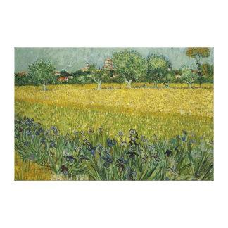 El campo con las flores acerca a la lona de Arles Impresión En Lienzo