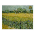 El campo con las flores acerca a la postal de Arle
