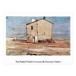 El campo de alfareros en Livorno de Giovanni Fatto Tarjeta Postal