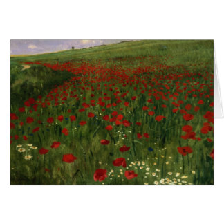 El campo de la amapola, 1896 tarjeta de felicitación