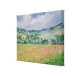El campo de la amapola cerca de Giverny, 1885 Impresion De Lienzo