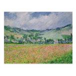 El campo de la amapola cerca de Giverny, 1885 Tarjeta Postal