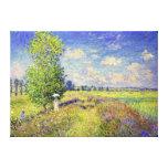 El campo de la amapola del verano, por Claude Mone Impresiones En Lienzo Estiradas
