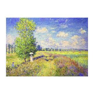El campo de la amapola del verano por Claude Mone Impresiones En Lienzo Estiradas