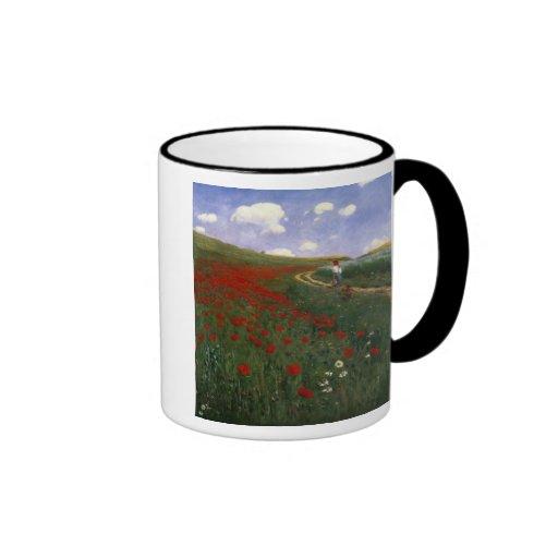 El campo de la amapola tazas de café
