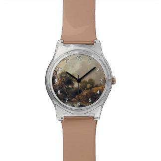 El campo de la cosecha de John Constable Reloj