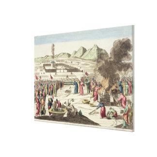 El campo de los Israelites y del sacrificio del th Impresiones En Lienzo Estiradas