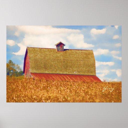 El campo de trigo impresiones