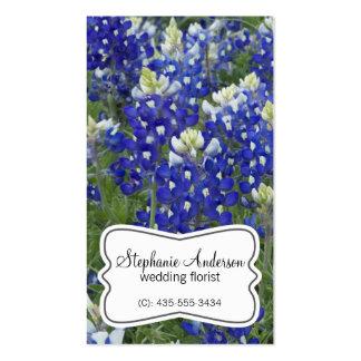 El campo del Bluebonnet florece la tarjeta de visi