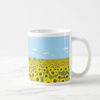 el campo del girasol taza de café