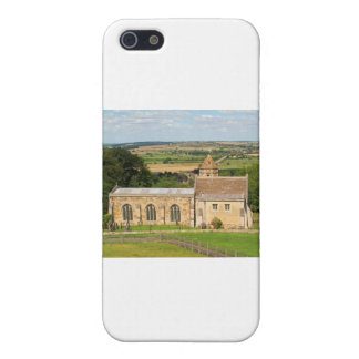El campo inglés representa el castillo de Rockingh iPhone 5 Protectores