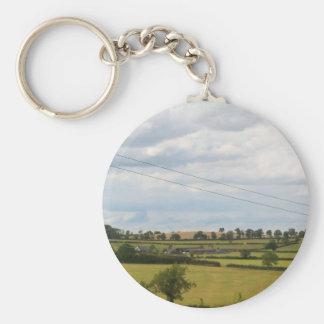 El campo inglés representa las cerraduras de Foxto Llavero Redondo Tipo Pin