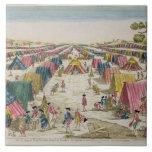 El campo prusiano del ejército, extraído a partir  azulejo cuadrado grande