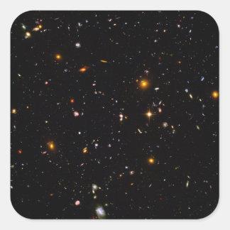 El campo Ultra-Profundo de Hubble Pegatina Cuadrada