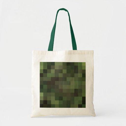 el camuflaje ajustó verde bolsa tela barata