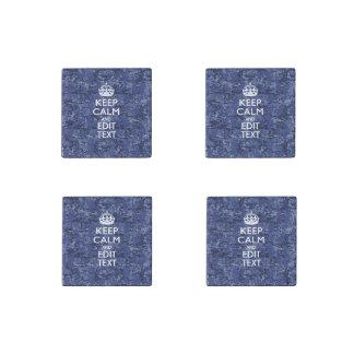 El camuflaje de Digitaces de los azules marinos Imán De Piedra