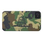 El camuflaje no pisa en mí la bandera de Gadsen iPhone 4 Protectores
