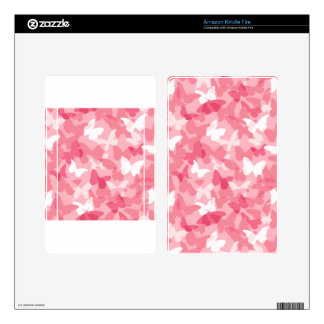 El camuflaje rosado de la mariposa enciende la pie kindle fire pegatinas skins
