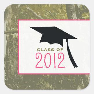 El camuflaje y pica al pegatina 2012 de la graduac