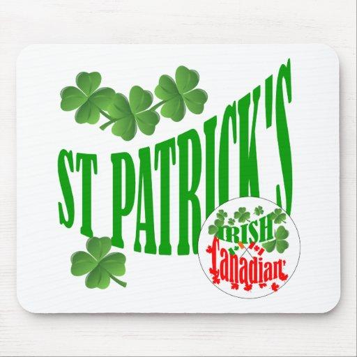 El canadiense irlandés de St Patrick Tapetes De Raton