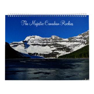 El canadiense majestuoso Rockies Calendario De Pared