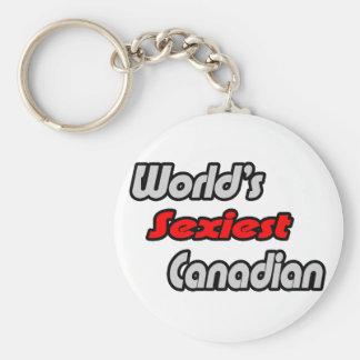 El canadiense más atractivo del mundo llavero redondo tipo pin