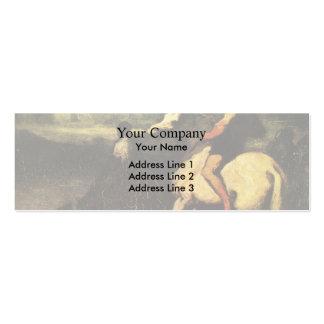 El canal de alimentación de Honore Daumier Plantilla De Tarjeta Personal