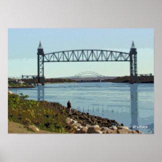 El canal de Cape Cod tiende un puente sobre arte Posters
