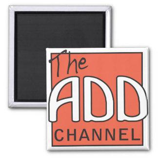 El canal del ADICIÓN - nos centramos en distraccio Imán Cuadrado