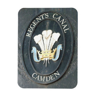 El canal del regente - cerradura de Camden - Rectangle Magnet