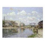 El canal San Martín, París, 1872 Postales