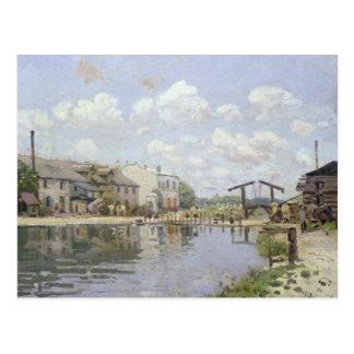 El canal San Martín París 1872 Postales
