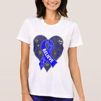 El cáncer anal cree el corazón de la cinta camisetas