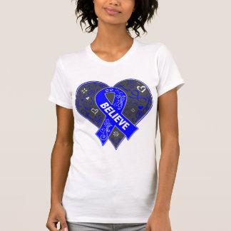 El cáncer anal cree el corazón de la cinta camiseta