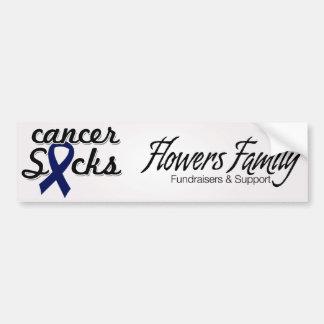 El cáncer chupa a la pegatina para el parachoques pegatina de parachoque