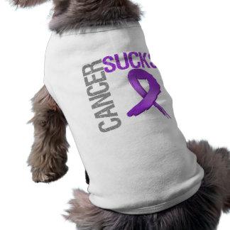 El cáncer chupa - al cáncer pancreático playera sin mangas para perro