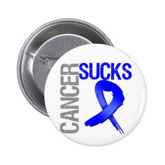 El cáncer chupa - el cáncer de colon pin redondo de 2 pulgadas