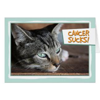El cáncer chupa, gato triste tarjeta de felicitación